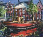 De rode boot Noorderhaven Groningen - Reinder Bleeker